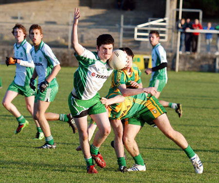 Action from the minor league game against Ardara.