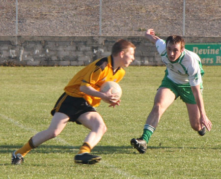 Action from the senior league game against Malin.
