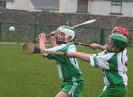 Action from the under 14 Ulster F�ile final.