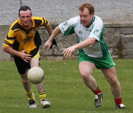 Action from the senior secondary league game against Naomh Br�d.