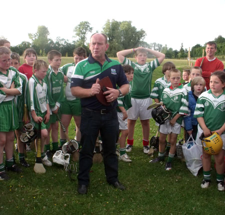The Aodh Ruadh under 8 hurlers in Letterkenny.