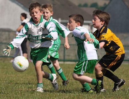 Action from the under 8 blitz against Saint Eunan.
