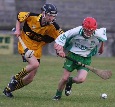 The Aodh Ruadh under 16 hurlers take on Saint Eunans.