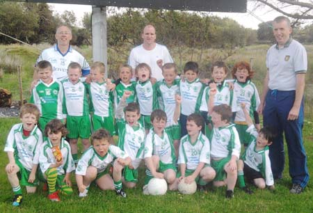 The Aodh Ruadh under 8 team which faced Ardara.