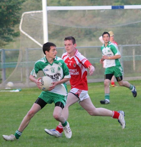Action from the championship game between Aodh Ruadh and Dungloe.