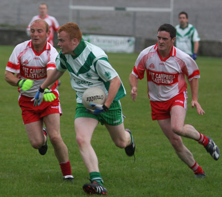 Action from the senior reserve division two match against Glenfin.