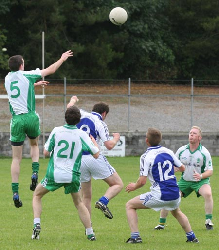 Action from the senior division two match against Fanad Gaels.