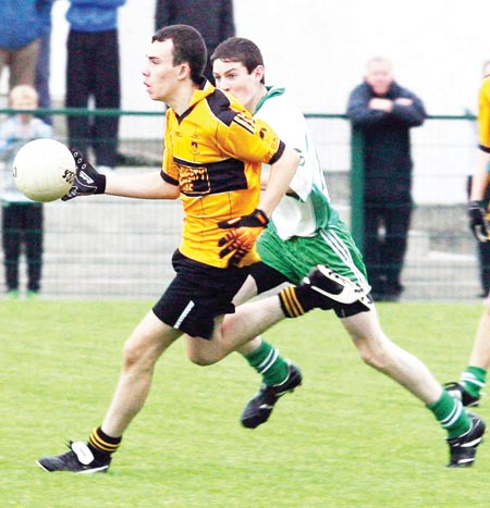 Action from the 2010 u-16 county semi-final between Aodh Ruadh and Saint Eunan.