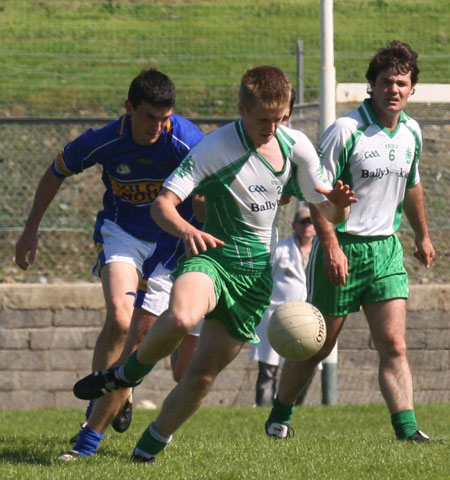 Action from the senior division two match against Kilcar.