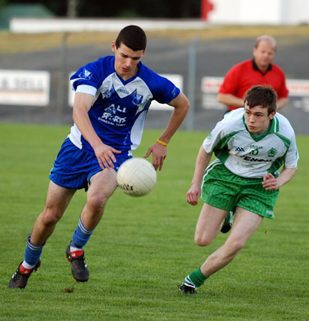 Action from the minor championship first round between Aodh Ruadh and Four Masters.