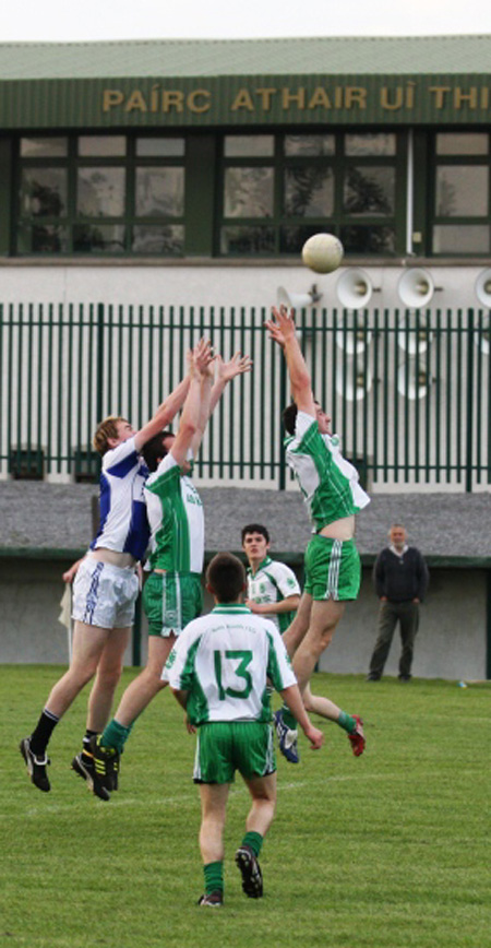 Action from the under 21 championship match against Fanad Gaels.