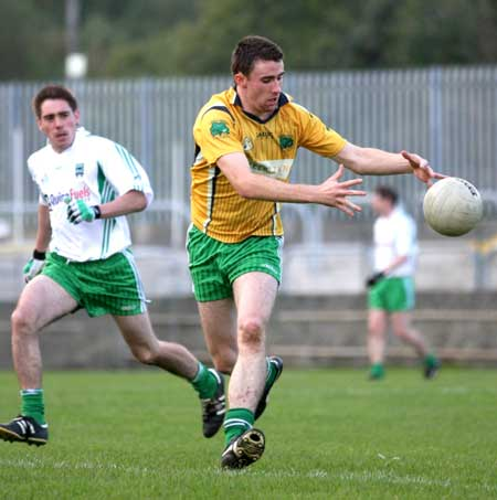 Action from the senior reserve division two match against MacCumhaill's.