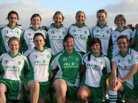 Action from the 2010 ladies intermediate league final between Aodh Ruadh and Glenties.