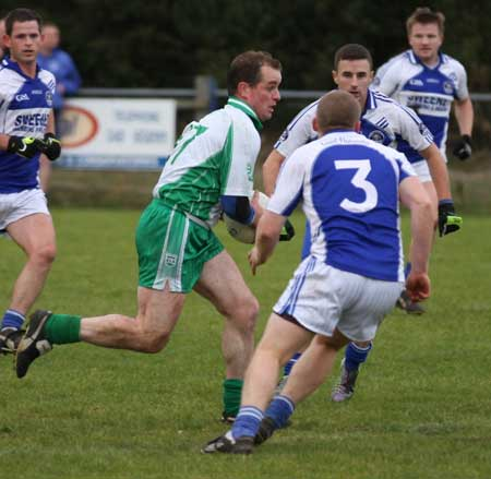 Action from the senior  division two match against MacCumhaill's.