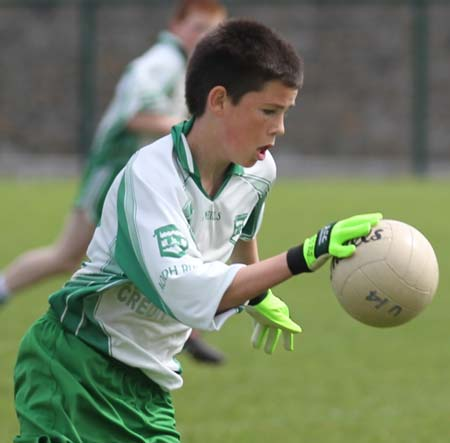 Action from the under 14 challenge between Aodh Ruadh and Errigal Ciaran.