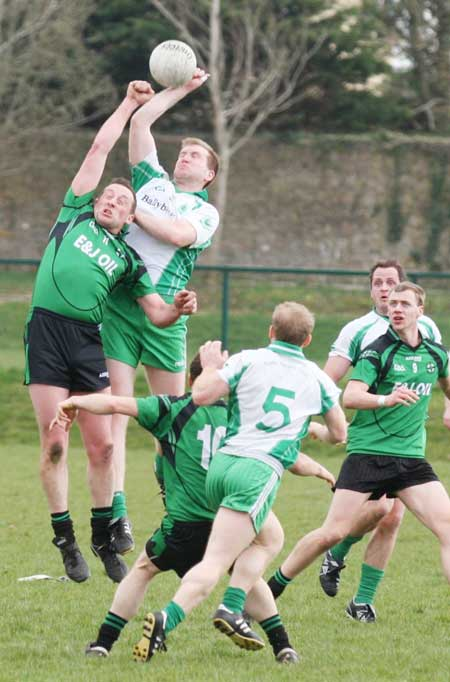 Action from the reserve senior division three match against Naomh Br�d.
