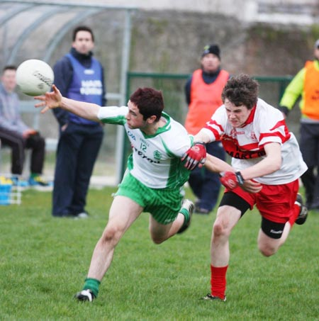 Action from the minor league clash between Aodh Ruadh and Saint John's.