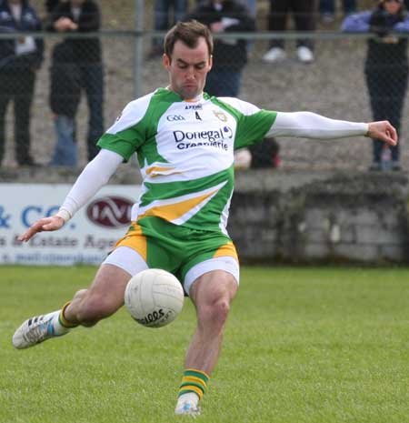 Action from the NFL fixture between Antrim and Donegal.