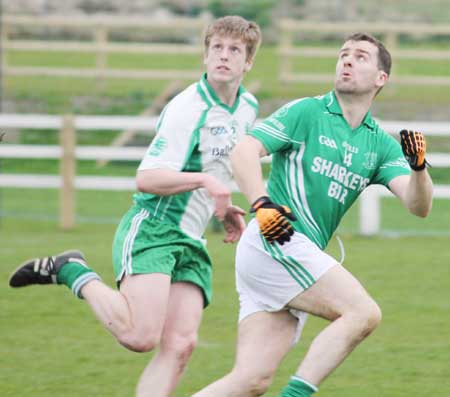 Action from the senior division three match against Naomh Mhuire.