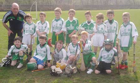One of teh Aodh Ruadh teams which competed at the under 8 blitz in Strabane.