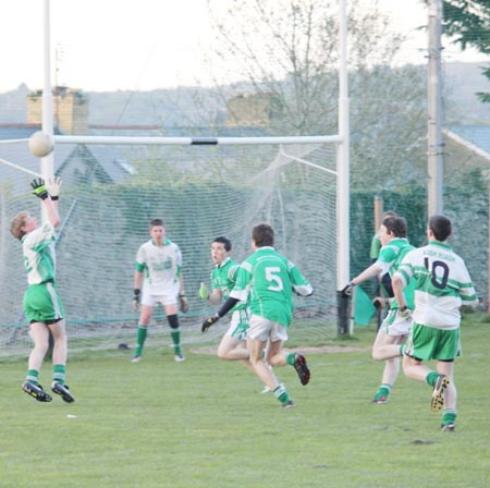 Action from the under 16 league clash between Aodh Ruadh and Naomh Mhuire.