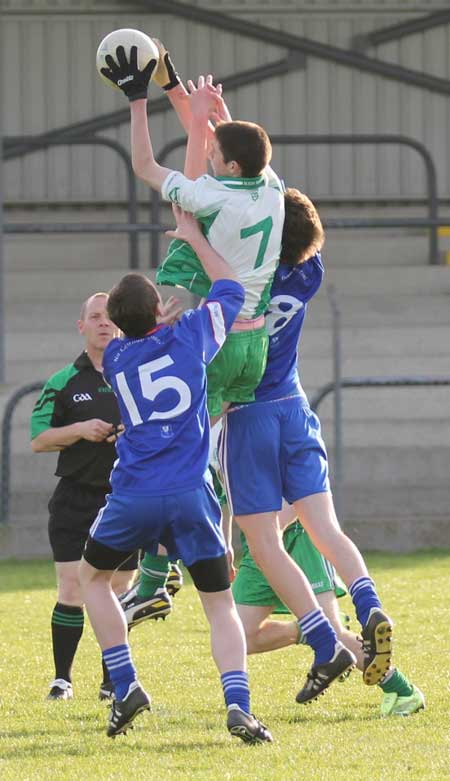 Action from the under 18 league clash between Aodh Ruadh and Four Masters.