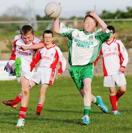 Action from the under 12 Go Games blitz between Aodh Ruadh and Dungloe.