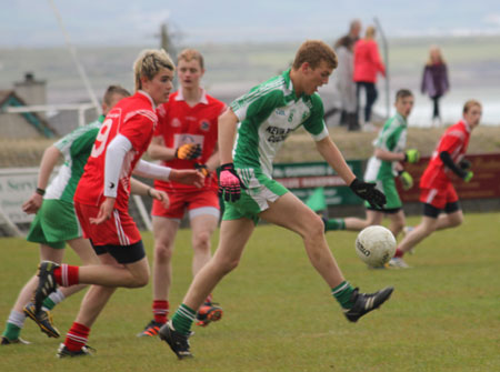 Action from the Southern Minor League final between Aodh Ruadh and Killybegs.