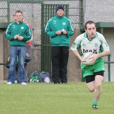 Action from the senior reserve division three match against Urris.