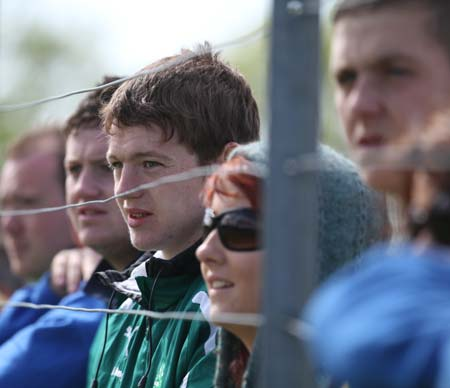 Supporters at the intermediate championship games against Fanad Gaels.