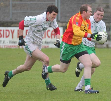 Action from the reserve league match against Saint Naul's.