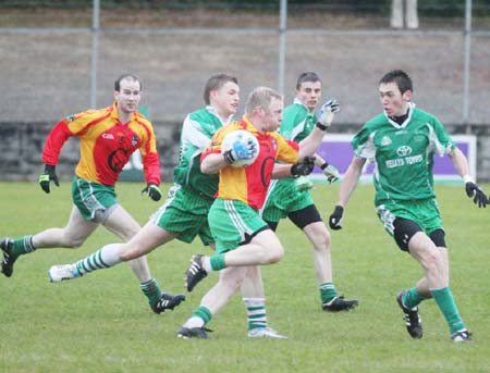 Action from the league match against Saint Naul's.