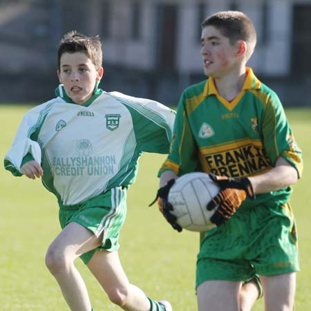 Action from the under 12 league game between Aodh Ruadh and Ardara.