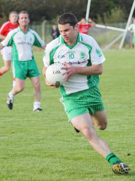 Action from the reserve league match against Naomh Cholmcille.