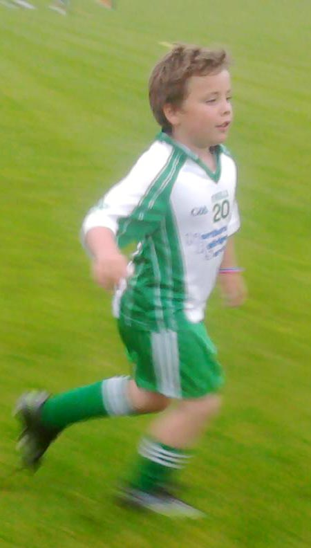 Action from the under 8 blitz in Mountcharles.