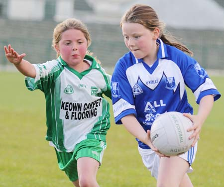 Action from the under 10 girls Willie Rogers tournament in Páirc Aoidh Ruaidh.
