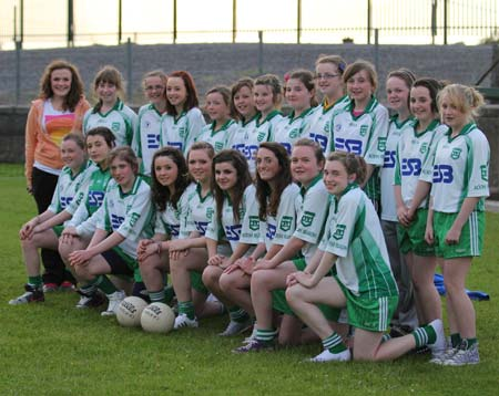 Action from the 2011 ladies under 14 B championship semi-final between Aodh Ruadh and Saint Eunan.