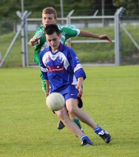 Action from the under 16 championship game between Aodh Ruadh and Four Masters.
