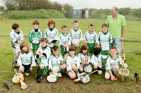Aodh Ruadh under 8 hurlers who took part in the blitz in Letterkenny.