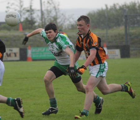 Action from the under 16 final in Dunkineely.