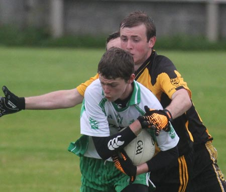 Action from the under 21 championship match against Bundoran.
