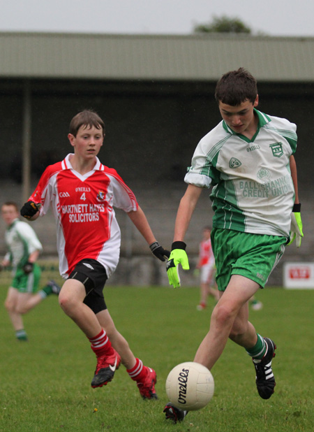 Action from the under 14 match against Dungloe.