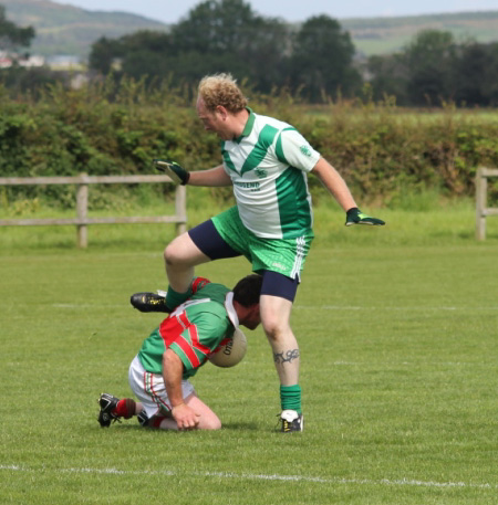 Action from the division 3 reserve league match against Carndonagh.