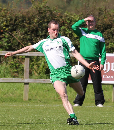 Action from the division 3 league match against Carndonagh.