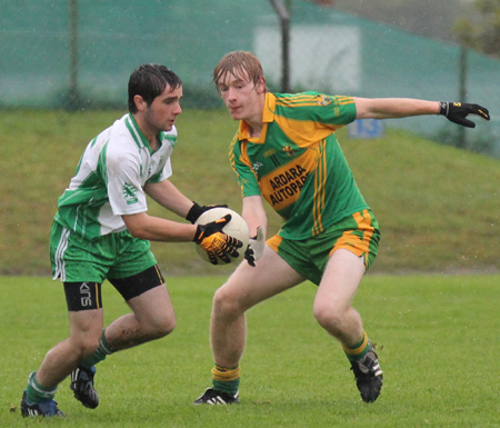 Action from the under 18 regional league final against Ardara.