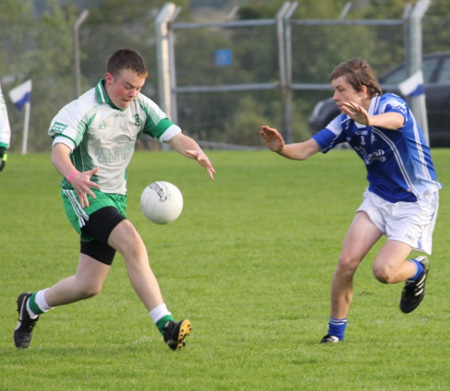 Action from the under 14 regional league final against Naomh Conaill.