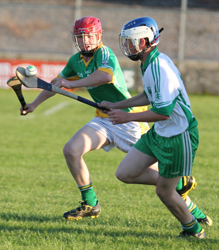 Action from the under 16 hurling championship game between Aodh Ruadh and Buncrana.