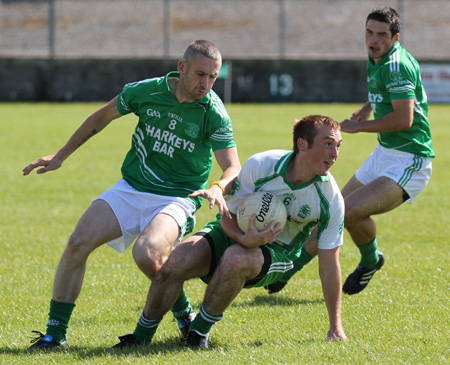 Action from the division 3 league match against Naomh Mhuire.