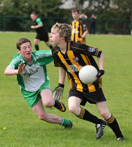 Action from the under 16 challenge against Mountbellew Moylough of Galway.