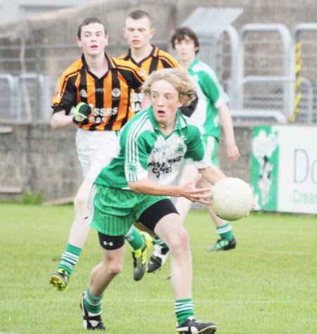 Action from the under 16 county championship final against Naomh Mhuire.